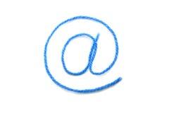 Die Symbol-eMail von einer blauen Wolle Lizenzfreie Stockfotografie