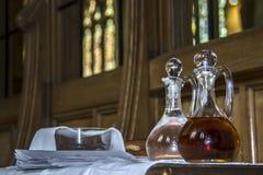 Die Symbole des heiligen Abendmahl Detail von St- Albanskathedrale stockfotografie
