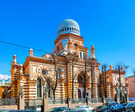Die Synagoge in St Petersburg lizenzfreie stockfotos