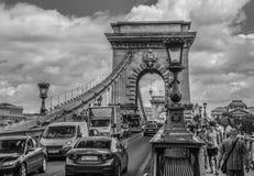 Die Széchenyi-Hängebrücke Lizenzfreies Stockbild