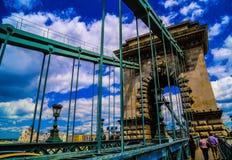 Die Széchenyi-Hängebrücke Lizenzfreies Stockfoto