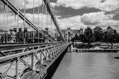 Die Széchenyi-Hängebrücke Stockbild