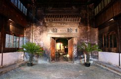 Die Szene der Nacht in alter Stadt Xitang, Zhejiang-Provinz, China Lizenzfreies Stockfoto