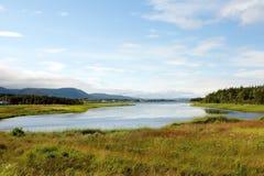 Die szenische Cabot Spur auf Umhang-Bretonen, Neuschottland Lizenzfreie Stockfotos