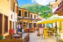 Die szenischen Cafés Lizenzfreie Stockfotos