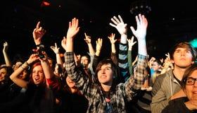 Die Töne (schwedische indie Rockwiederbelebungsband) führt bei Apolo durch Stockfoto