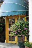 Die Tür des Restaurants Stockfotos