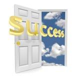 Die Tür zur Gelegenheit - Erfolg Stockfoto