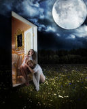 Die Tür zur Welt von Träumen lizenzfreies stockbild