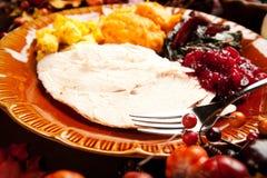 Die Türkei-Abendessen stockbilder