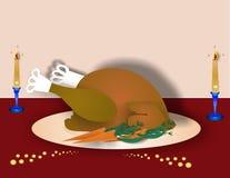 Die Türkei-Abendessen Abbildung vektor abbildung