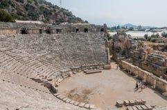Die Türkei, alte Stadt von Mirra, griechisch-romanisches Theater Stockfotografie