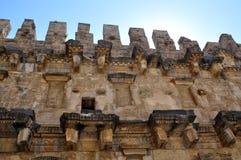 Die Türkei. Aspendos-Amphitheater Stockbilder