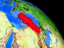Die Türkei auf Planet Erde stock abbildung