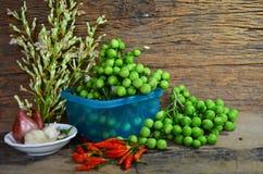 Die Türkei-Beerenobst und Kraut für kulinarische thailändische Arten Stockfotos
