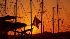 Die Türkei - blutiger Sonnenuntergang Stockfoto
