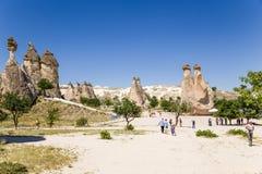 Die Türkei, Cappadocia Ansicht des Tales der Mönche (Pashabag) Stockbilder