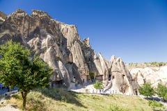 Die Türkei, Cappadocia Die alte Kirche, geschnitzt in den Felsen, Freilicht-Museum von Goreme Stockbild