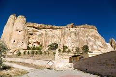 Die Türkei, Cappadocia Kirche von Johannes der Baptist im Cavusin Stockbild