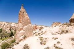 Die Türkei, Cappadocia Tal-Ansicht Devrent mit Säulen von Verwitterung (Außenseiter) Lizenzfreies Stockbild