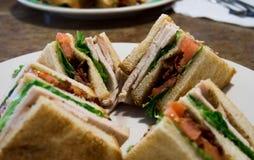 Die Türkei-Club Sandwich Stockbilder