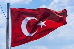 Die Türkei fahnenschwenkend Stockbild