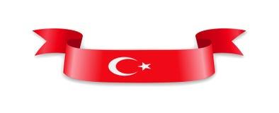 Die Türkei-Flagge in Form von Wellenband Stock Abbildung