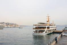 Die Türkei Istanbul Liegeplatz auf dem Bosphorus Lizenzfreies Stockfoto