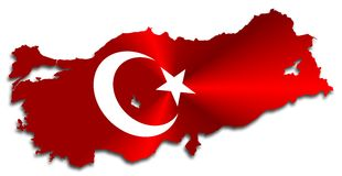 Die Türkei-Karte Lizenzfreie Stockfotos