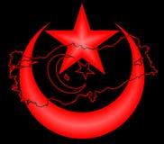 Die Türkei-Karte und flag3 Stockfotografie