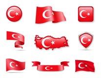 Die Türkei kennzeichnet Sammlung Lizenzfreies Stockbild