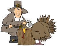 Die Türkei-Kopf-Hieb stock abbildung