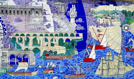 Die Türkei-Kunstwand Stockfotos