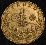 Die Türkei Kurush Gold Coin Lizenzfreie Stockfotos