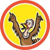Die Türkei-Läufer Victory Circle Cartoon Lizenzfreie Stockfotos