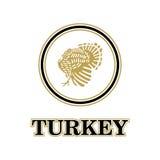 Die Türkei-Logokarte Stockfotografie