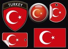 Die Türkei-Markierungsfahne Stockfotos