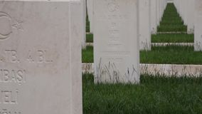 Die Türkei-Militärfriedhof in Canakkale 2016 stock footage