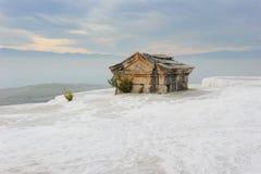 Die Türkei. Pamukkale. Die alte Stadt von Hierapolis. Stockfotos