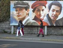 Die Türkei-Produktion des Traums eines Schmetterlingsstraßenfilmplakats Stockfoto