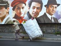 Die Türkei-Produktion des Traums eines Schmetterlingsstraßenfilmplakats Lizenzfreies Stockfoto