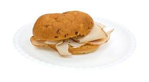 Die Türkei-Sandwich-Zwiebel-Rollenpapier-Platten-Seitenansicht Stockbilder