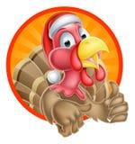 Die Türkei Santa Cartoon Lizenzfreies Stockbild