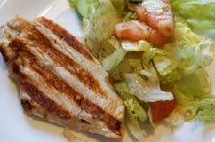 Die Türkei-Steak mit Gemüsesalat Lizenzfreies Stockfoto