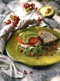 Die Türkei-und Avocadosandwich stockbilder