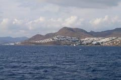 Die türkische Küste in dem Ägäischen Meer Lizenzfreies Stockfoto
