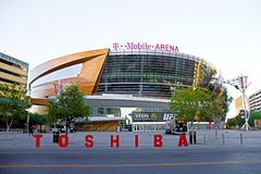 Die T-Mobile-Arena in Las Vegas Stockfotos
