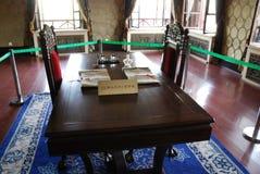 Die Tabelle für das Protokoll Japan-Manchukuo Stockbilder