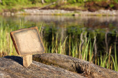 Die Tablette des Steins stockbild