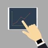 Die Tablette mit Diagramm Lizenzfreie Stockfotos